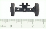1:87 steering mechanism LKW-BS for small truck 17.5mm with wheel